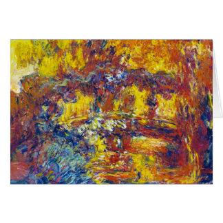 Japanen överbryggar Claude Monet OBS Kort