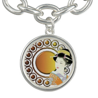 Japansk dam berlockarmband
