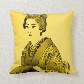 Japansk dekorativ kudde för Princess Vattenfärg