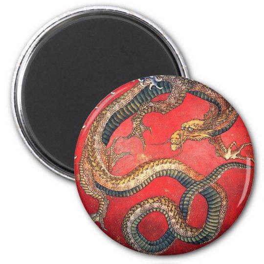 Japansk drake magnet rund 5.7 cm
