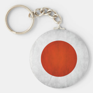 Japansk flagga rund nyckelring