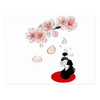 japansk geisha vykort