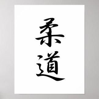 Japansk Kanji för Judo - Juudou Poster