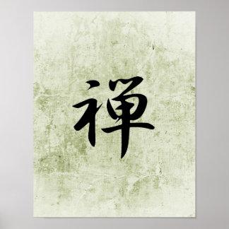 Japansk Kanji för zenen - Zen Poster