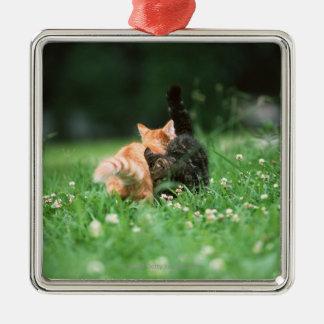 Japansk katt 4 julgransprydnad metall