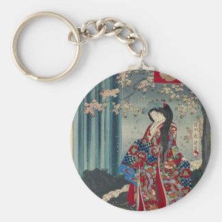 Japansk klassiker för coola för konst för rund nyckelring