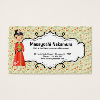 Japansk kockrestaurang visitkort