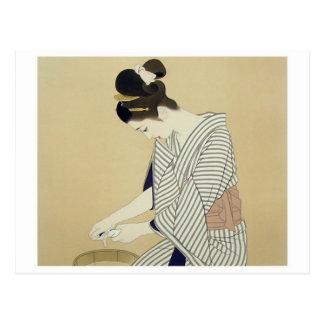 Japansk konstvykort för vintage vykort