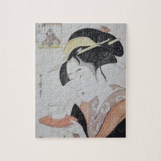 Japansk kvinna med Tea Pussel