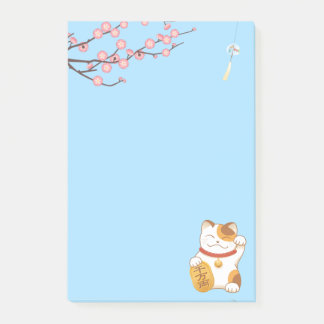 Japansk lycklig Calicokatt, Maneki Neko Post-it Block