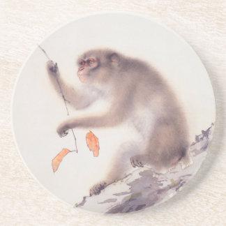 Japansk målning för apa - år av apan underlägg sandsten