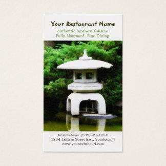 Japansk Pagodastaty för asiatisk restaurang Visitkort