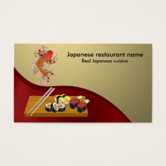 Japansk restaurang visitkort