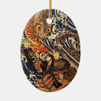 Japansk Samuari för vintage prydnad Julgransdekorationer
