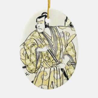 Japansk skådespelare för klassikervintage som julgransprydnad keramik