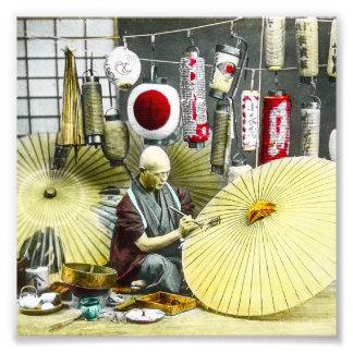 Japansk vintage för nr. 2 för fototryck