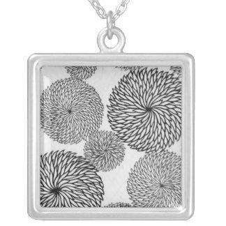 Japanska skolas Chrysanthemums Silverpläterat Halsband
