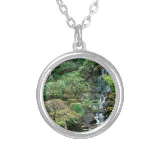 japanska trädgårdar silverpläterat halsband