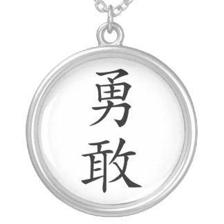Japanskt glansKanjihalsband Silverpläterat Halsband