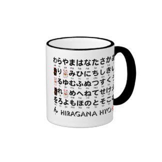 Japanskt hiragana- & Katakanabord (alfabetet) Kaffe Mugg
