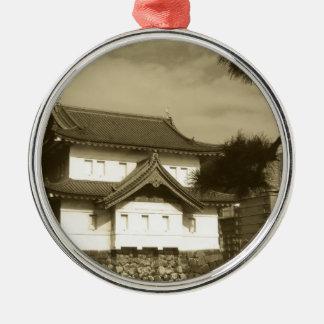 Japanskt hus julgransprydnad metall