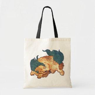 Japanskt lejont för vintage (specificera), tygkasse