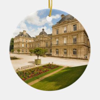 Jardin du Luxembourg i Paris Rund Julgransprydnad I Keramik