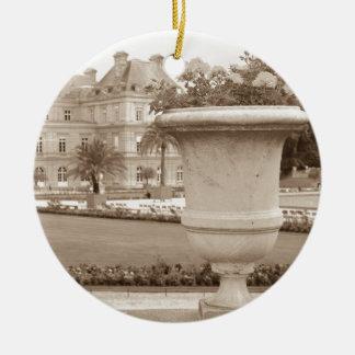 Jardin du Luxembourg, vintage Paris Rund Julgransprydnad I Keramik