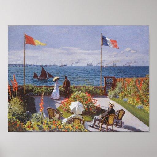 Jardin En Sainte-Adresse Vid Claude Monet Poster