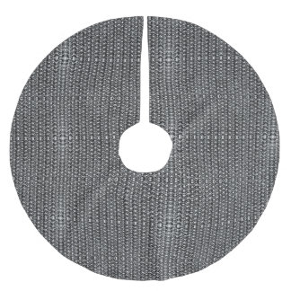 Järn postar kanonmetallsvartmetall kedjar pansaret julgransmatta borstad polyester