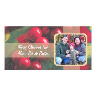 Järnekbär och kort för bandfamiljfoto fotokort mall