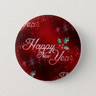 järnekgott nytt år standard knapp rund 5.7 cm