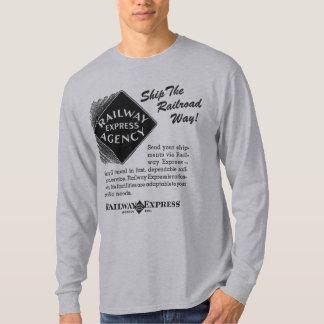 Järnväg uttryckligt - sänd T-tröja för järnväg T Shirts