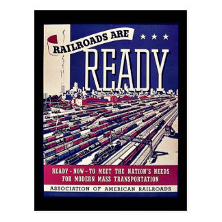 Järnvägar är klara vykort