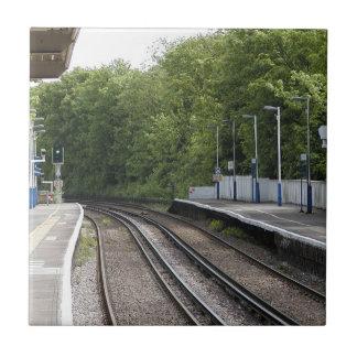 Järnvägen belägger med tegel kakelplatta