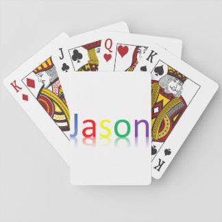 Jason färg som leker kort casinokort