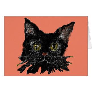 JASPER - din HALLOWEEN svart katt Hälsningskort
