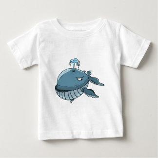 Jätte för hav för tecknadblåttval som flyter på tröjor