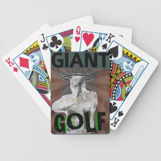 Jätte- Golf som leker kort Spelkort