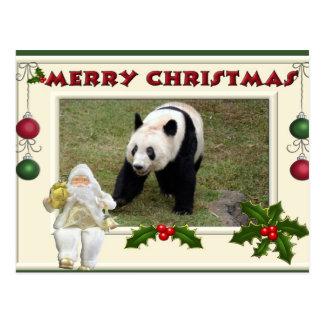 Jätte- julkort för Pandabjörn- & babyPanda Vykort