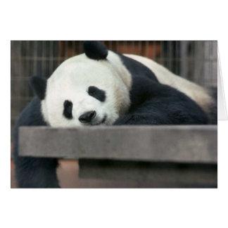 Jätte- Panda Hälsningskort