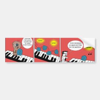 Jätte- piano bildekal