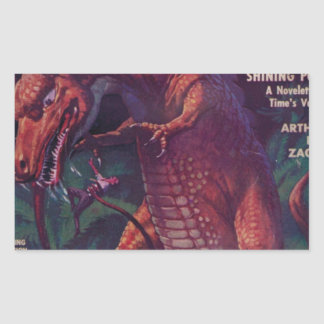 Jätte- reptil rektangulärt klistermärke