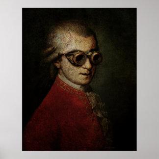 Jätte- Steampunk Mozart Poster