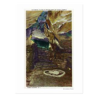 Jätte tempelbalkongen beskådar av möhippan vykort
