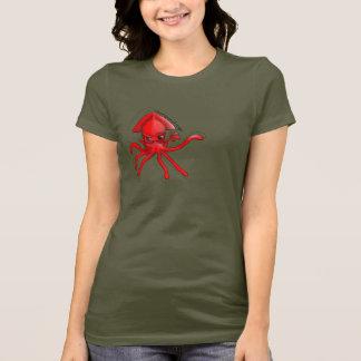 Jätte- tioarmad bläckfisk av ilska t shirt