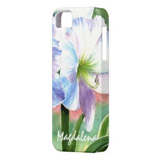 Jätte- vitblomma med lila- och blåttviktig iPhone 5 cover