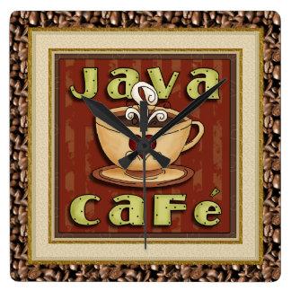 Java Cafekaffe tar tid på Fyrkantig Klocka