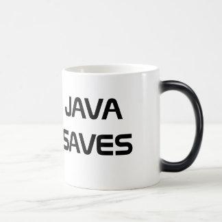 Java sparar kaffemuggen magisk mugg