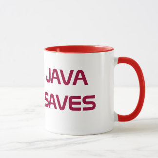 Java sparar kaffemuggen mugg